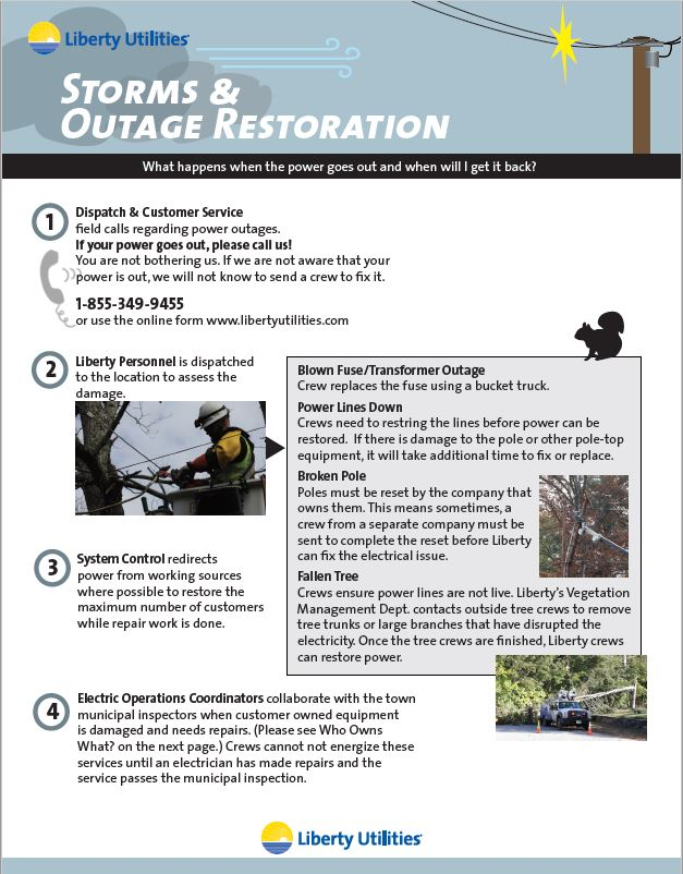 Outage & Restoration Infographic